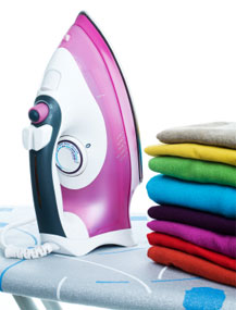 Ironing and washing